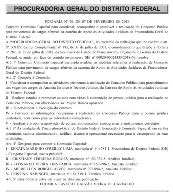 Diário Oficial/Divulgação