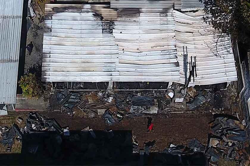 CT Flamengo incêndio