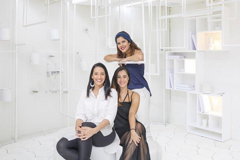 Flavia, Carolline e Renata