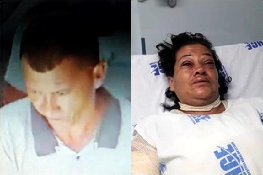 Imagens mostram momento em que homem joga ácido no rosto da ex-mulher