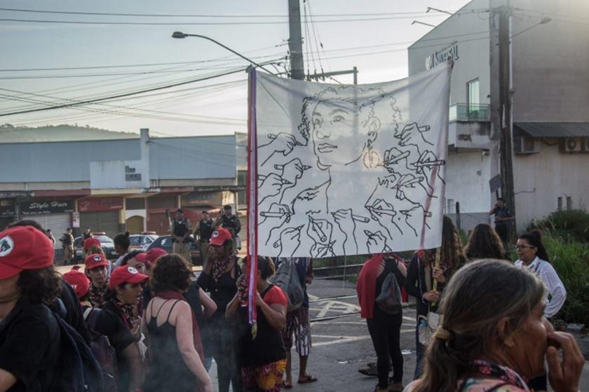 Manifestações de um ano da morte da vereadora Marielle Franco