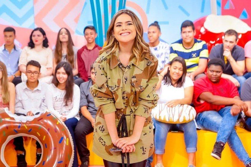 Maisa Silva em seu talk show 'Programa da Maisa' (Foto: reprodução/SBT)