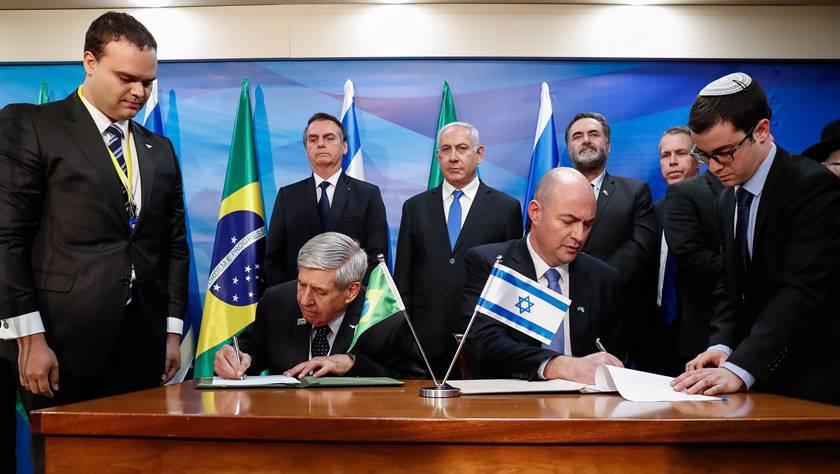 Bolsonaro em Israel - general Augusto Heleno