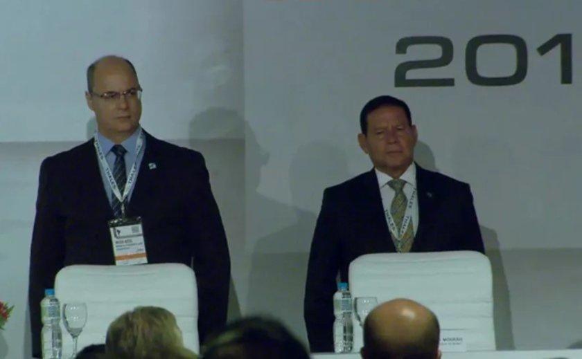 O governador Witzel e o vice-presidente Hamilton Mourão