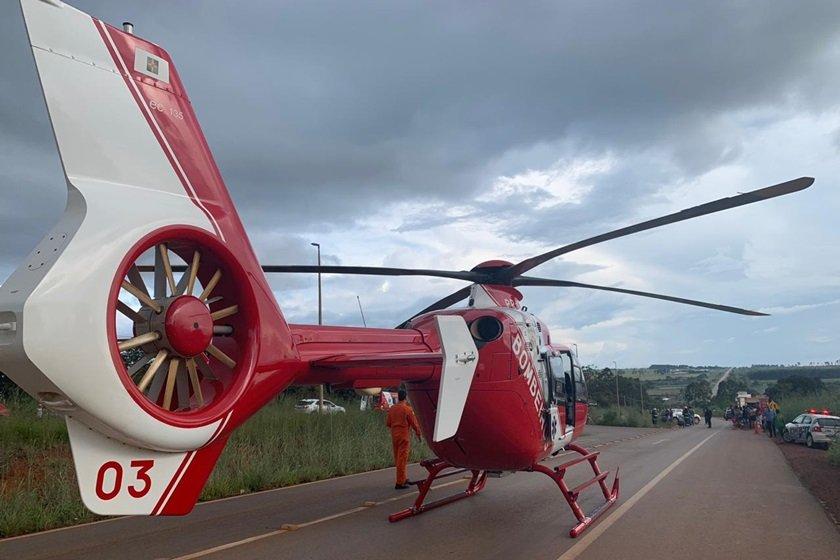 Helicóptero dos bombeiros