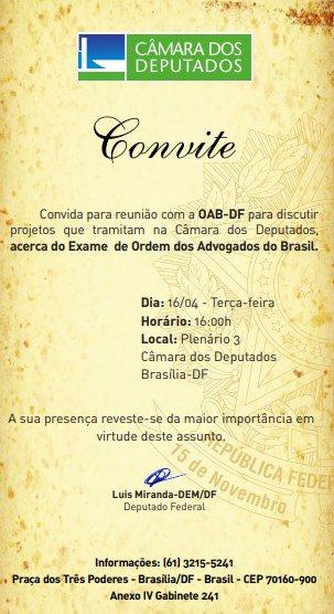 convite Luis Miranda