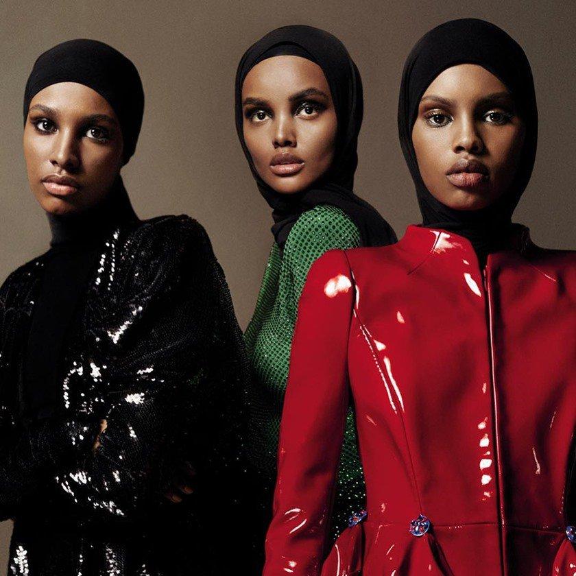 Halima Aden, Ikram Abdi Omar e Amina Adan, para Vogue Arabia