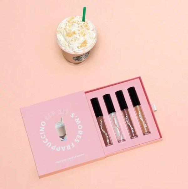 A rede Starbucks lançou quatro tons de gloss