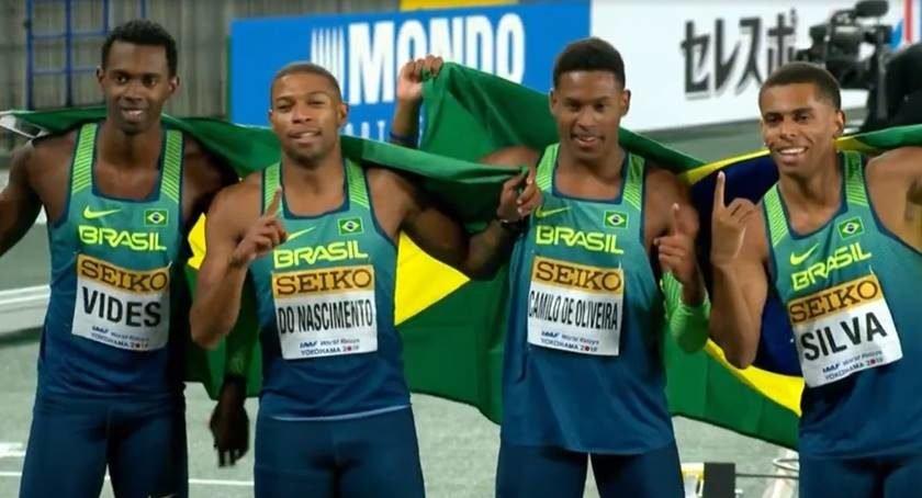 Resultado de imagem para Atletismo   Brasil faz história no Japão: vence os EUA no 4x100 e ganha o Mundial