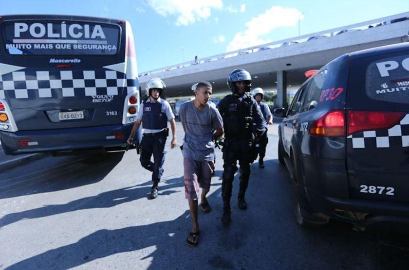 Manifestante preso
