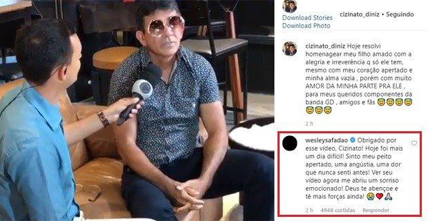 Pai de Gabriel Diniz manda recado para o filho e emociona