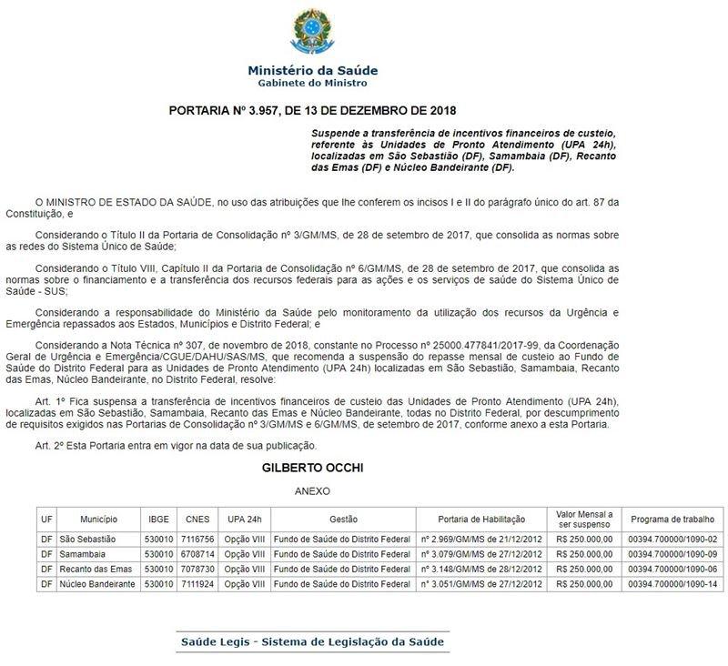 Reprodução/Ministério da Saúde
