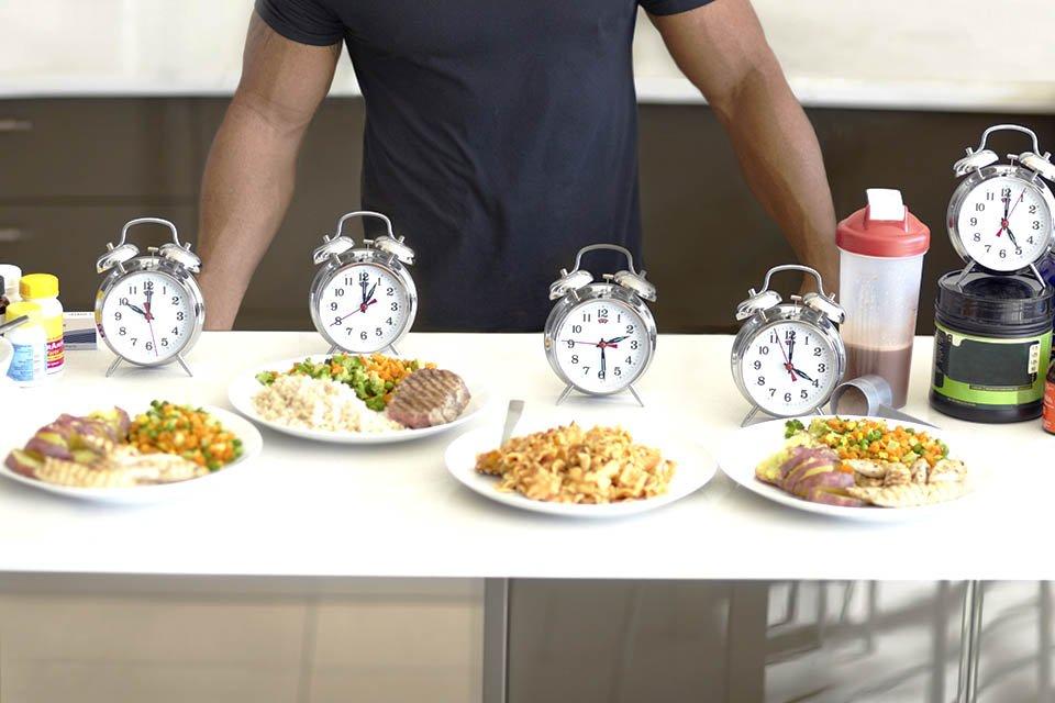 refeição dieta relógio
