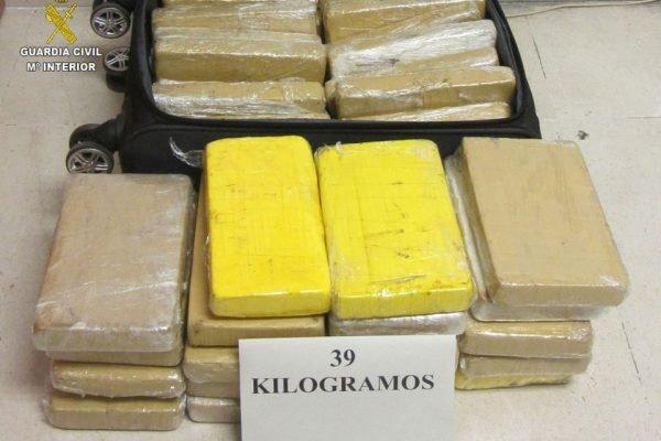 Cocaína apreendida em avião da FAB, na Espanha, em junho de 2019
