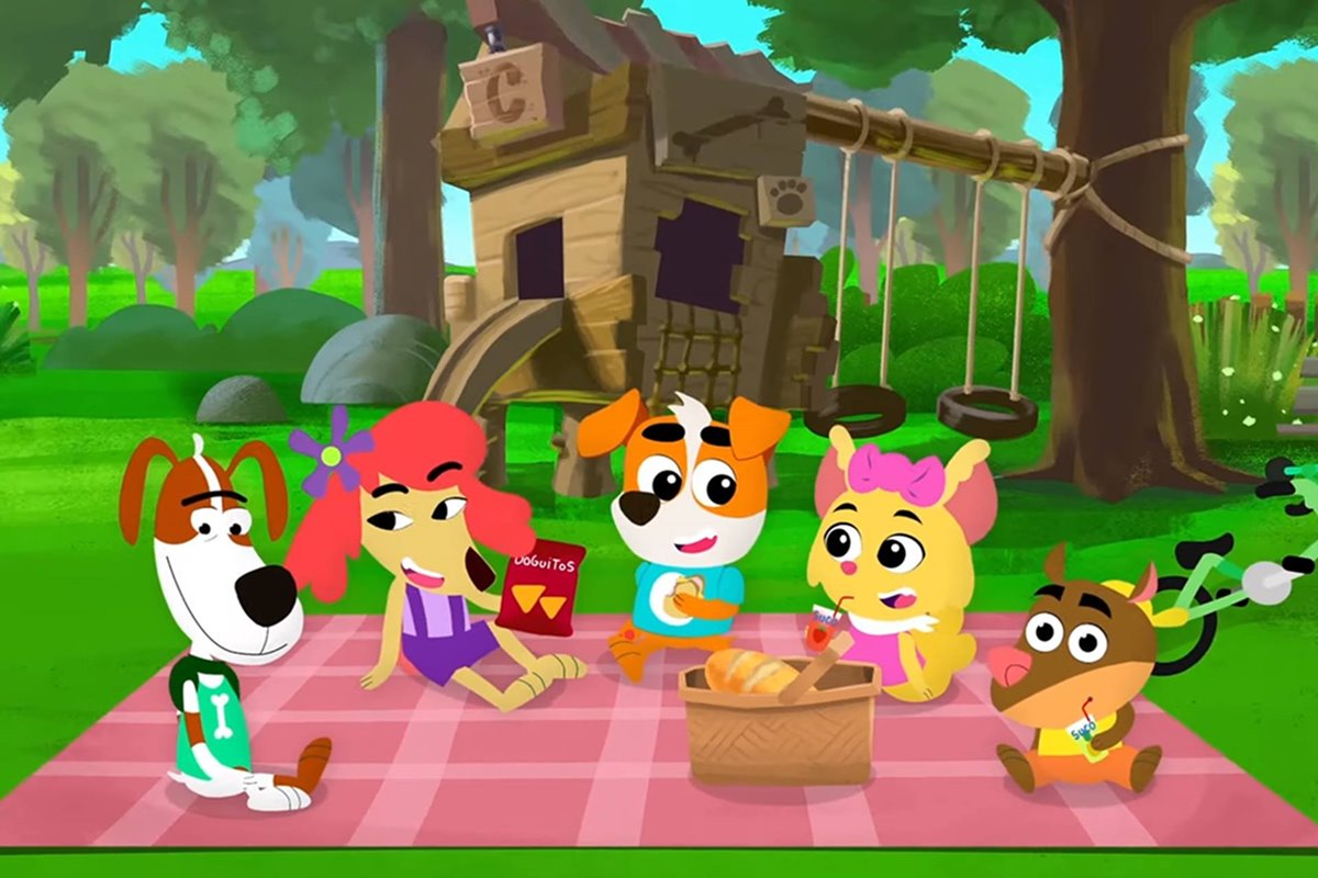 O cachorrinho mostra o clube secreto dos amigos e diversos locais para se divertir como: o parque, o bosque e o lago