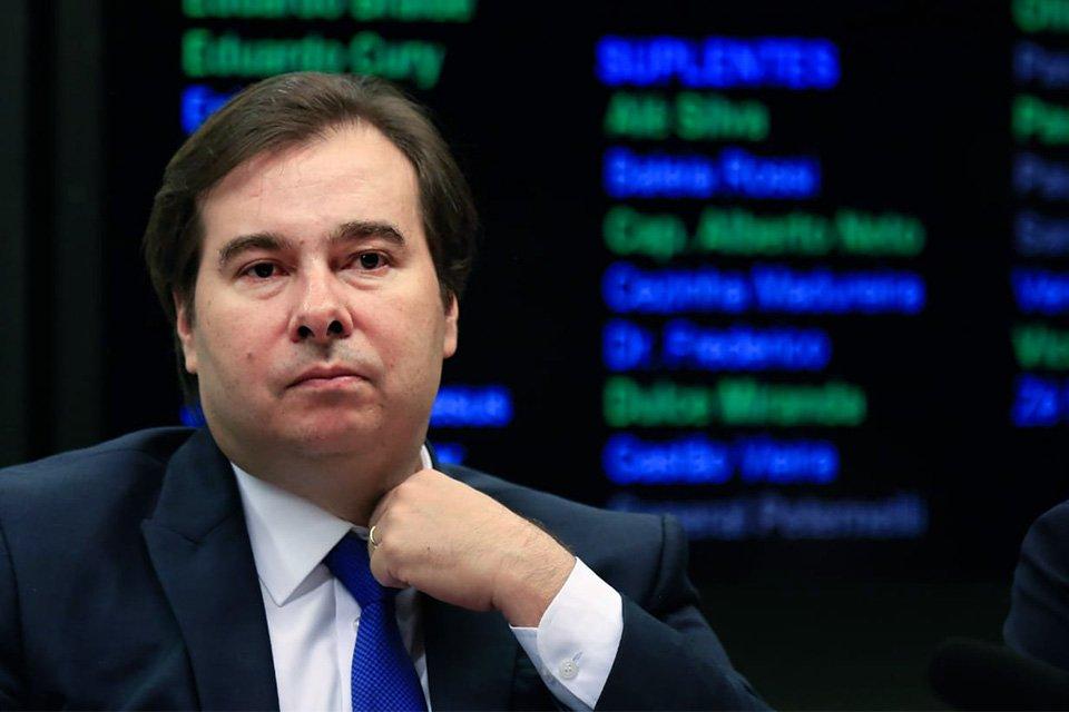 Rodrigo Maia na Mesa Diretora da Câmara