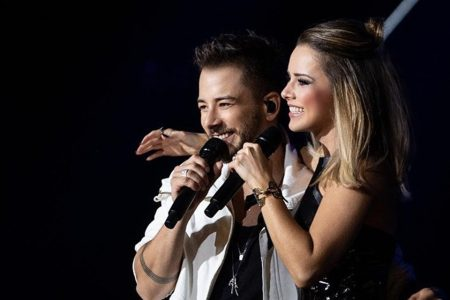 Sandy & Junior em show de retorno da dupla