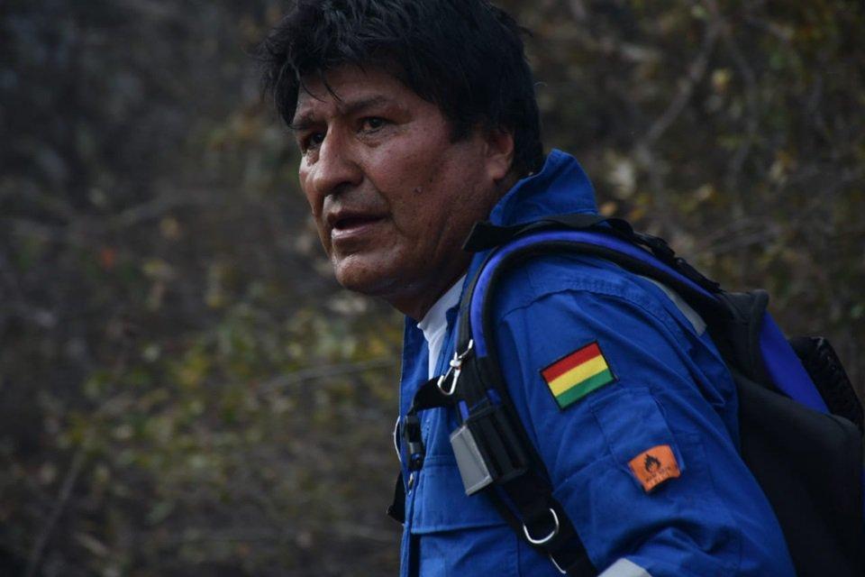Evo Morales se perde na selva enquanto combate incêndios florestais