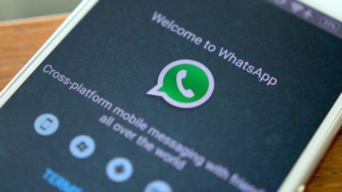 Tela de inicialização do WhatsApp