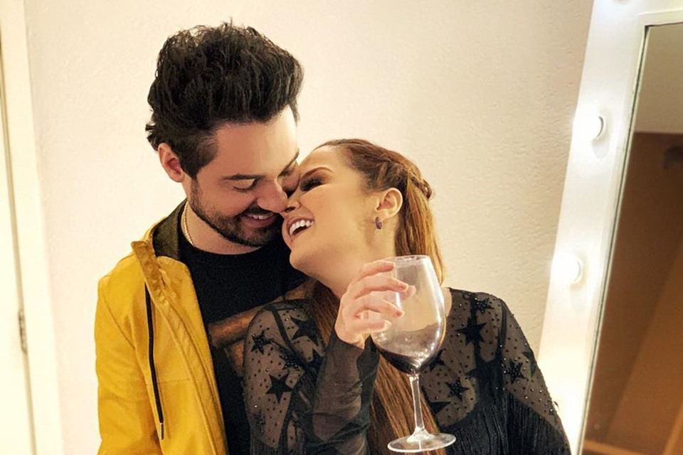 Maiara e Fernando juntinhos