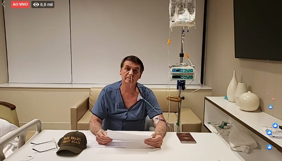Resultado de imagem para bolsonaro hospital
