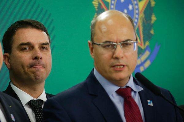 Wilson Witzel_Flávio Bolsonaro