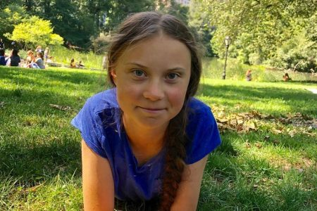 Greta Thunberg em foto