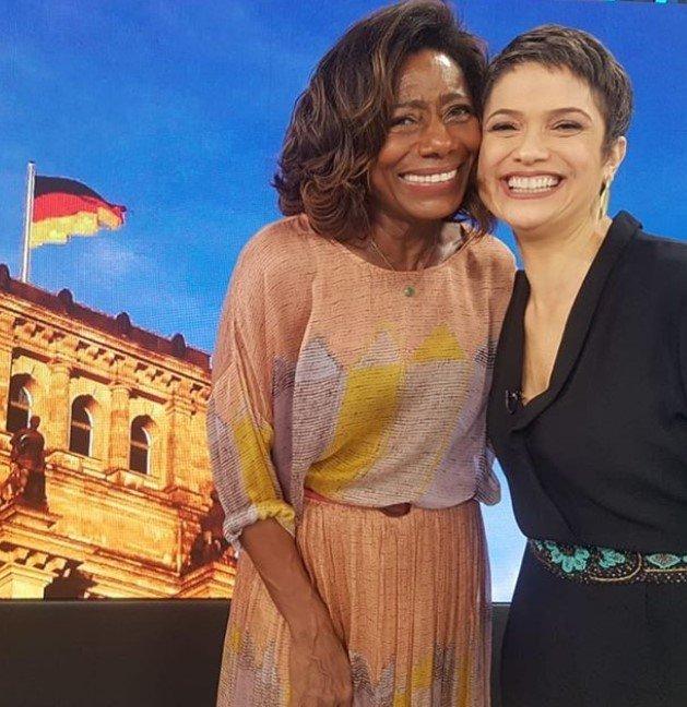 Gloria Maria e Sandra Annemberg no Globo Repórter