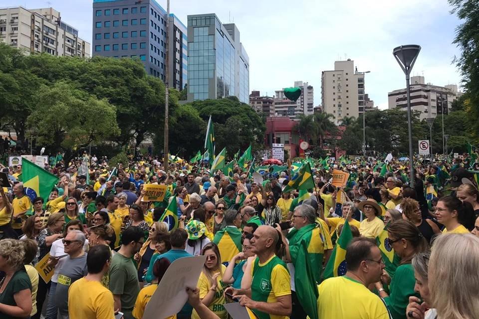 Concentração em São Paulo começou às 16h