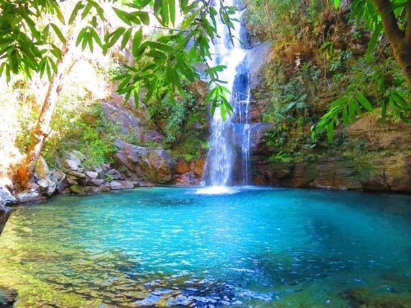 Cachoeira Santa Bárbara em Cavalcante, Chapada dos Veadeiros (GO)
