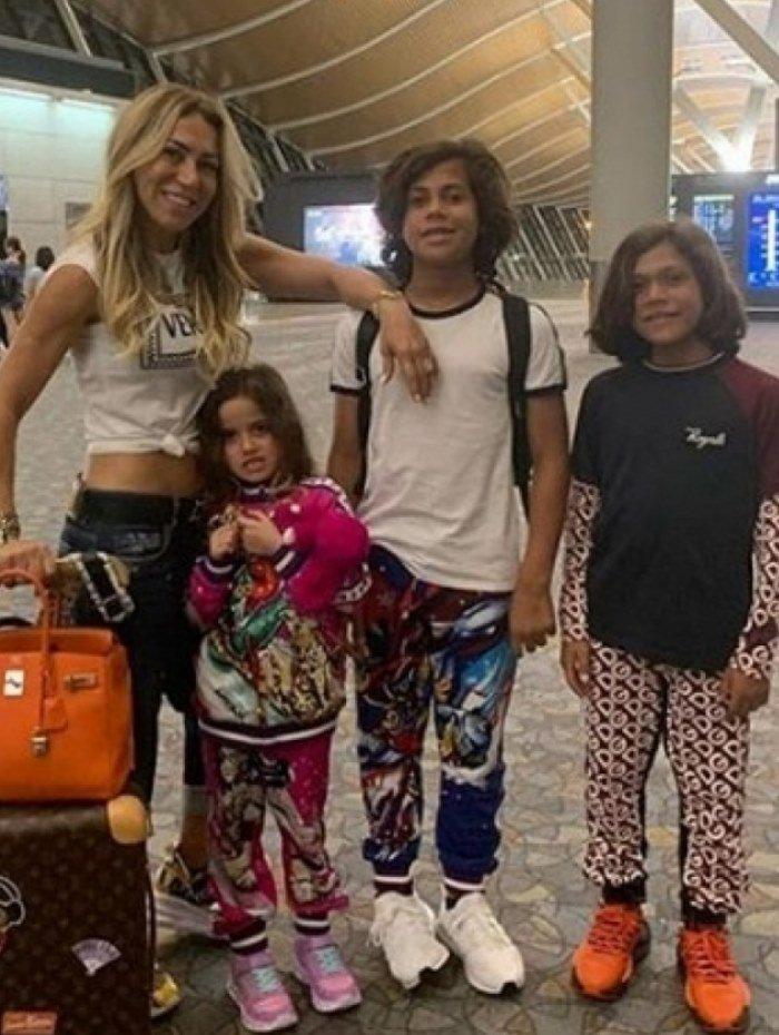 Iran Angelo e filhos que teve com Hulk