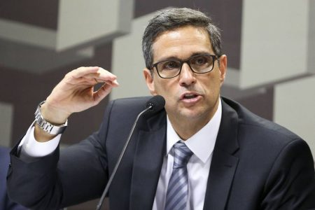 O economista Roberto de Oliveira Campos Neto, indicado pela presidência da República para o cargo de presidente do Banco Central, durante sabatina na Comissão de Assuntos Econômicos (CAE) do Senado