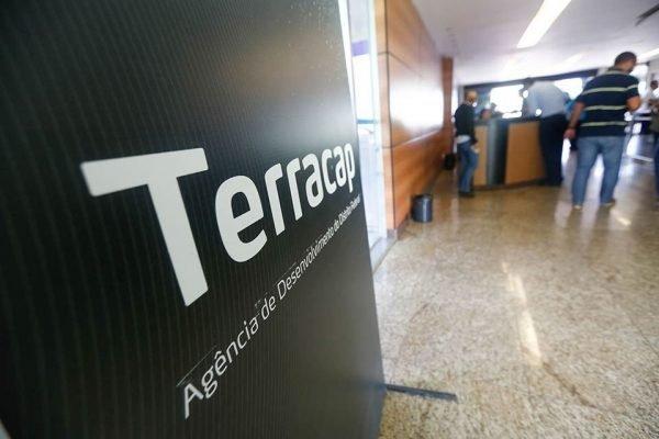 Letreiro na porta de entrada da Terracap