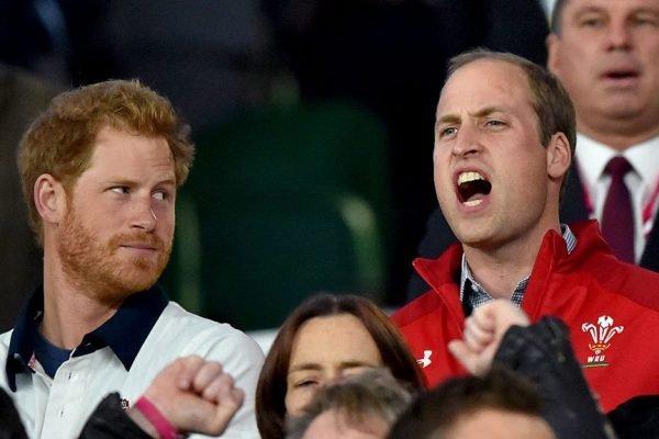 Harry olhando pra William com cara feia