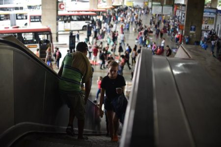 Escadas rolantes da Rodoviária do DF