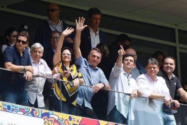 Bolsonaro no estádio Mané Garrincha