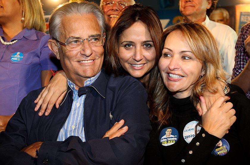Joaquim Roriz e filhas
