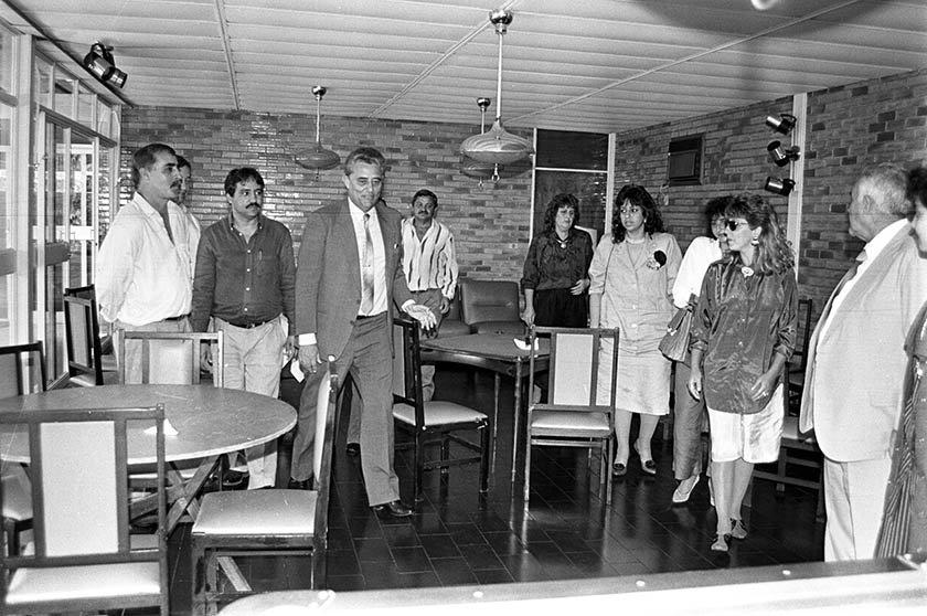 Almoço com a Comissão de Vereadores de Pires do Rio em 05_09_1989 -