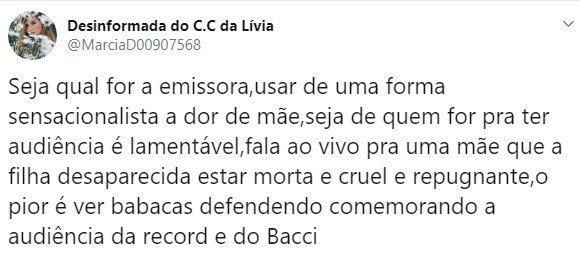 Luiz Bacci sofre ameaças