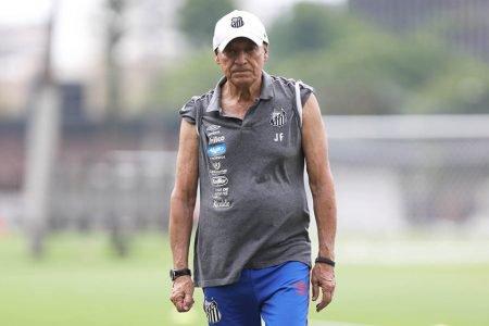 Jesualdo Ferreira no treino do Santos
