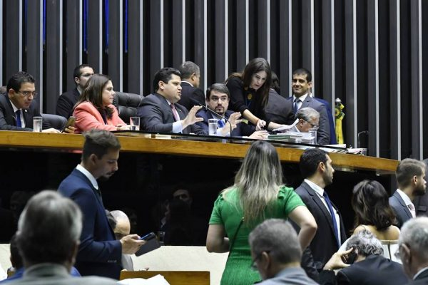 Plenário da Câmara dos Deputados durante votação dos vetos presidenciais