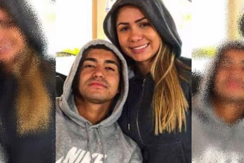 Dudu do Palmeiras posa com a ex-mulher