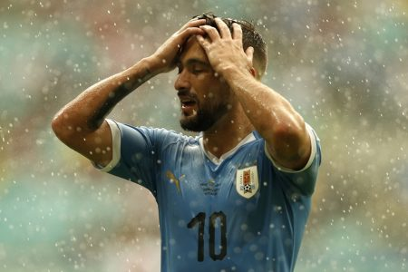 Arrascaeta com a camisa do Uruguai