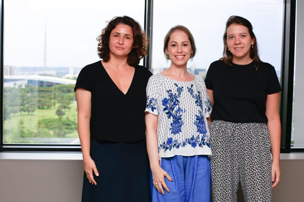 Equipe do projeto Elas por Elas: Erica Montenegro, Priscilla Borges e Olívia Meireles