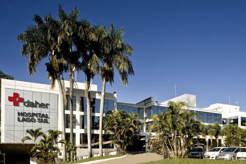 fachada do hospital daher, no Lago Sul