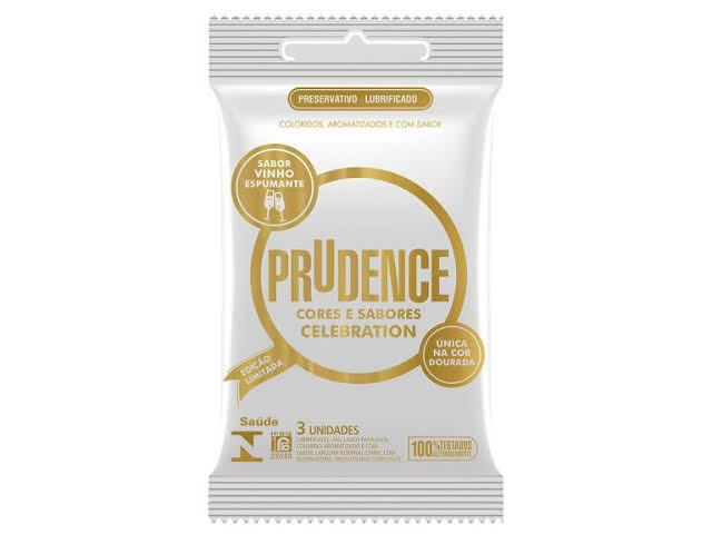 Embalagem de preservativo da marca Prudence Celebration