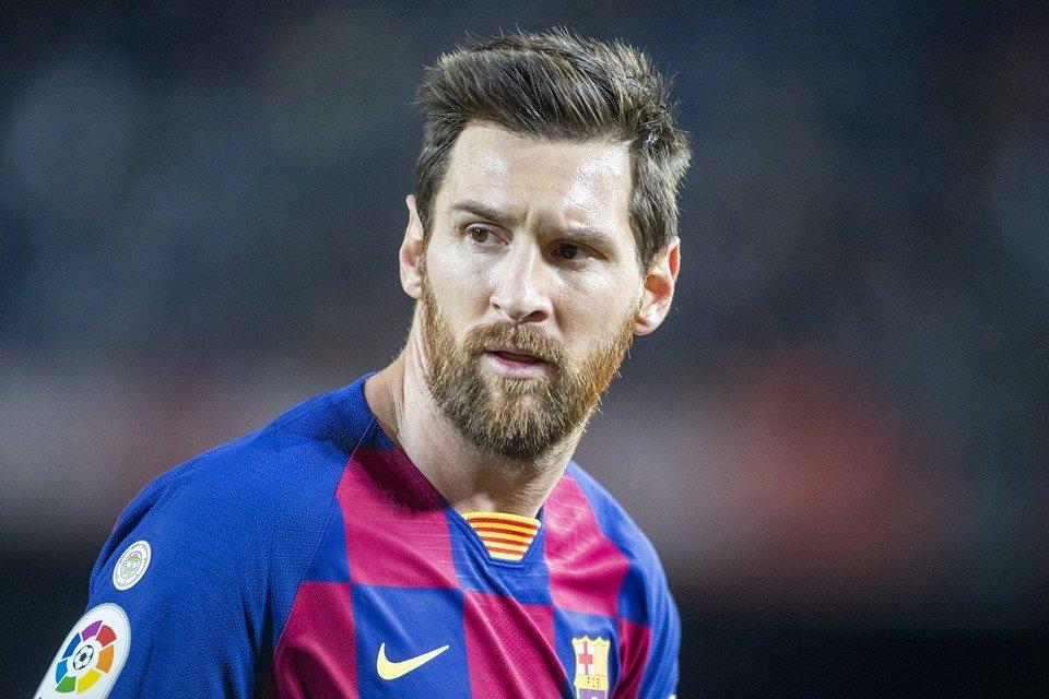 Messi en el partido del Barcelona