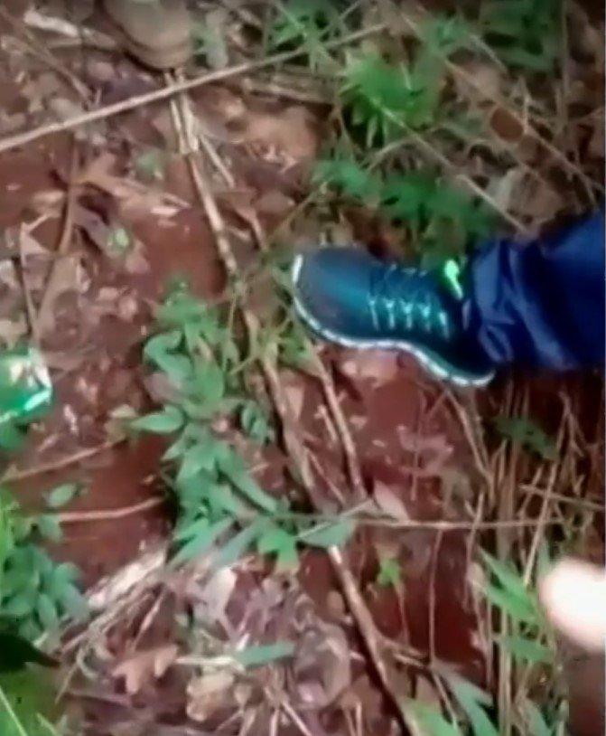 o tênis de um dos suspeitos pela gravação da execução