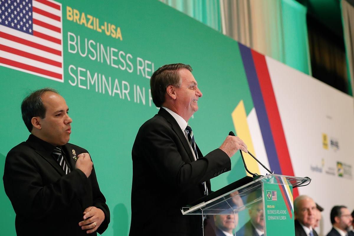 Bolsonaro em seminário nos Estados Unidos