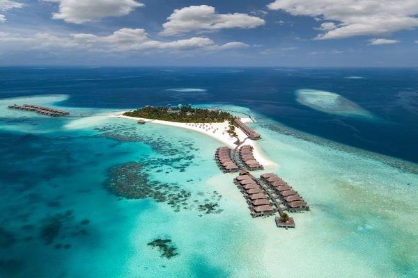 Praia paradisíaca em Maldivas